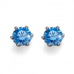 Stříbrné náušnice Oliver Weber Brilliance Medium - 62066 - Ag925 (blue)