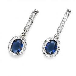 Stříbrné náušnice Oliver Weber Pure - 62057 - Ag925 (blue)