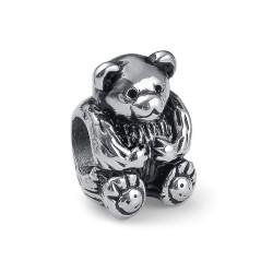 Korálek na náramek Oliver Weber Match Bead Bear - 55014 (steel)