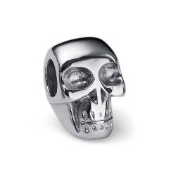 Korálek na náramek Oliver Weber Match Skull - 55016 (steel)