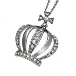 Náhrdelníkr Crown - 8984 (crystal)
