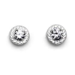 Stříbrné náušnice Oliver Weber Clear - 62060 - Ag925 (crystal)