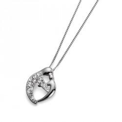 Stříbrný přívěsek Care - 7312 - Ag925 (crystal)