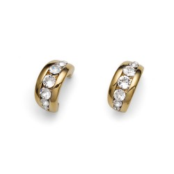 Náušnice Oliver Weber Slip - 22222 (gold crystal)