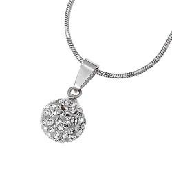 Stříbrný přívěsek Ball - 61007 - Ag925 (crystal)