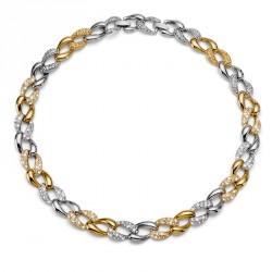 Náhrdelník Oliver Weber Rank - 11321 (gold crystal)