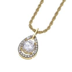 Náhrdelník True - 8998 (gold/crystal)