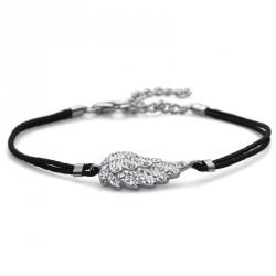 Stříbrný náramek Fabric Wing - 63513 - Ag925 (crystal)