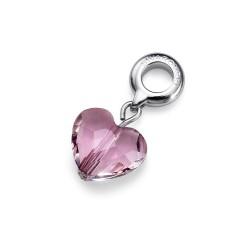 Přívěsek na náramek Oliver Weber Crystal Heart (antique pink) - 56016