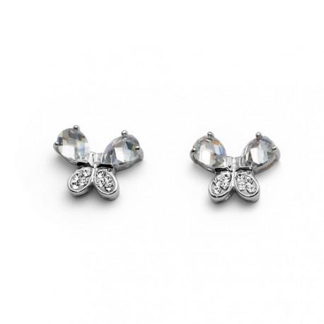 Stříbrné náušnice Oliver Weber Mariposa - 7666 - Ag925 (crystal)