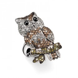 Stříbrný prsten Lucky Owl - S2010