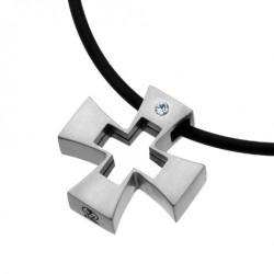 Ocelový přívěsek Oliver Weber Cross Passion 66001