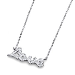 Stříbrný náhrdelník Oliver Weber Amar - 61116 (crystal)