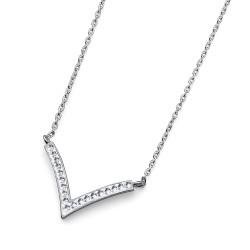 Stříbrný náhrdelník Oliver Weber Sharp - 61114 (crystal)