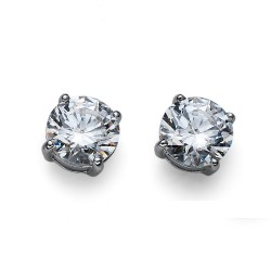 Stříbrné náušnice Oliver Weber Brilliance Large - 62067 - Ag925 (crystal)