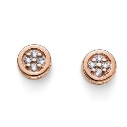 Stříbrné náušnice Oliver Weber Pinny - 62073 - Ag925 (crystal / rosegold)