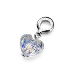 Přívěsek na náramek Oliver Weber Crystal Heart (crystal) - 56016
