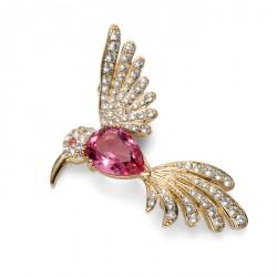 Brož Oliver Weber Hummingbird - 58027 (gold/rose)