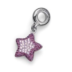 Přívěsek na náramek Oliver Weber Star Steel (violet) - 56011