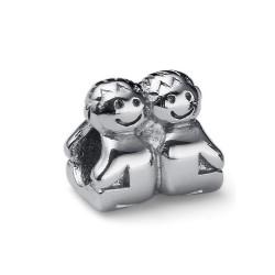 Korálek na náramek Oliver Weber Match Kids - 55013 (steel)