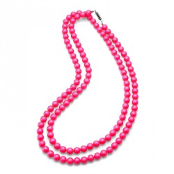 Náhrdelník Perlen Combi - 4332 (neon pink)