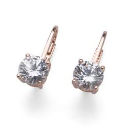Stříbrné náušnice Oliver Weber Comfort - 62071 - Ag925 (crystal / rosegold)