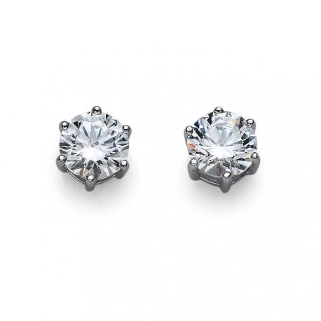 Stříbrné náušnice Oliver Weber Brilliance Medium - 62066 - Ag925 (crystal)