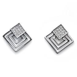 Náušnice Oliver Weber Squares - 22661 (crystal)