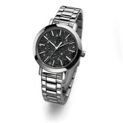 Dámské náramkové hodinky Oliver Weber Turku Steel - 65047 (crystal silver)