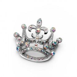 Brož Crown - 8373 (crystal AB)