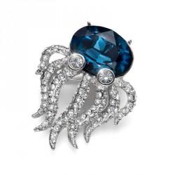 Brož Octopus - 8379 (blue)